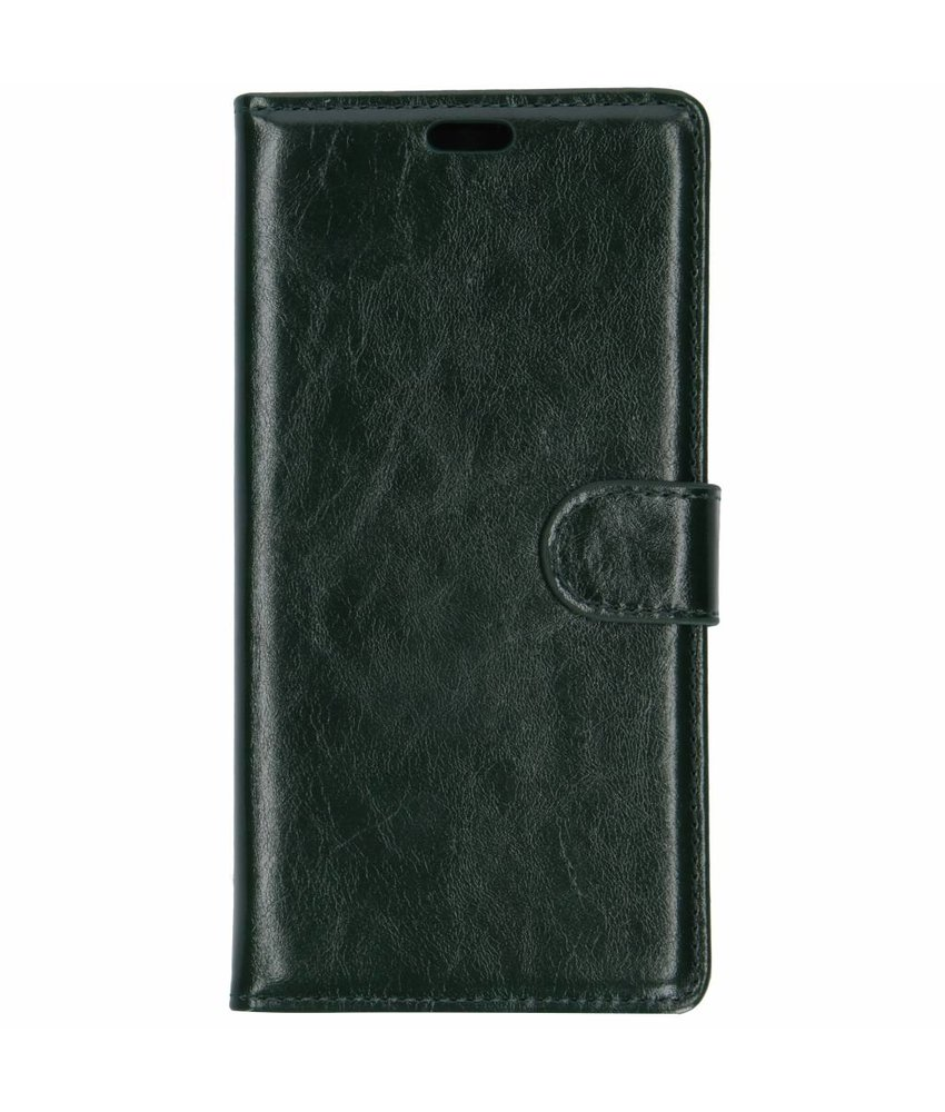 Groen lederen booktype hoes Samsung Galaxy J6 Plus
