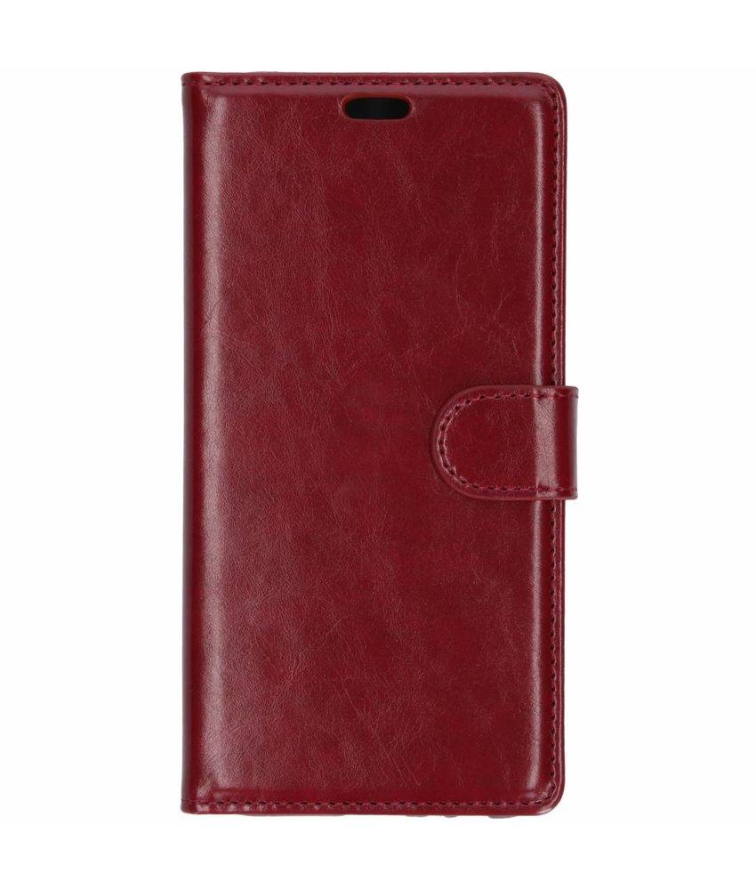 Rood lederen booktype hoes Samsung Galaxy J6 Plus