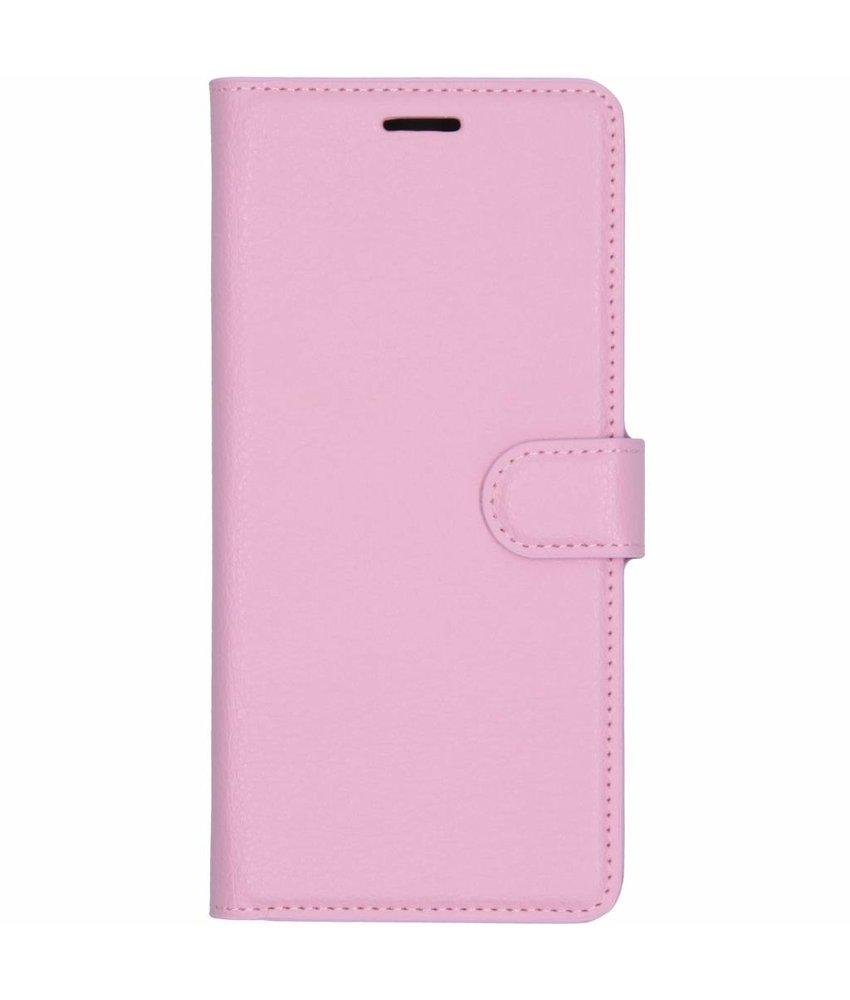 Roze litchi booktype hoes Samsung Galaxy J4 Plus