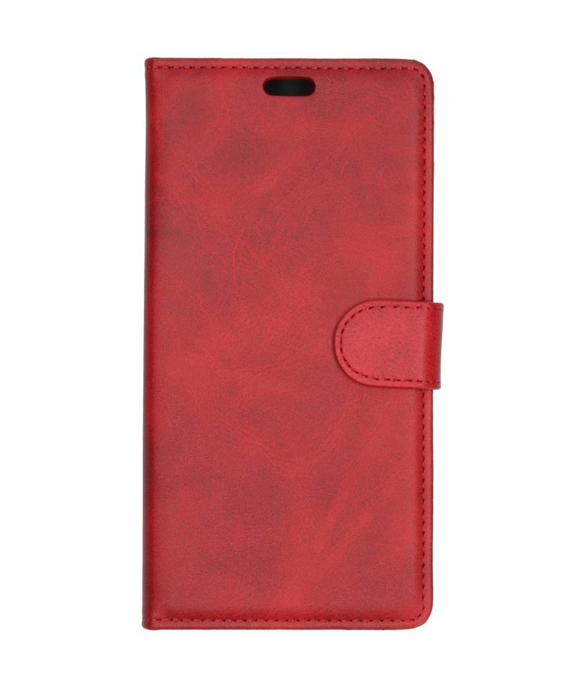 Rood luxe leder booktype hoes Samsung Galaxy J6 Plus