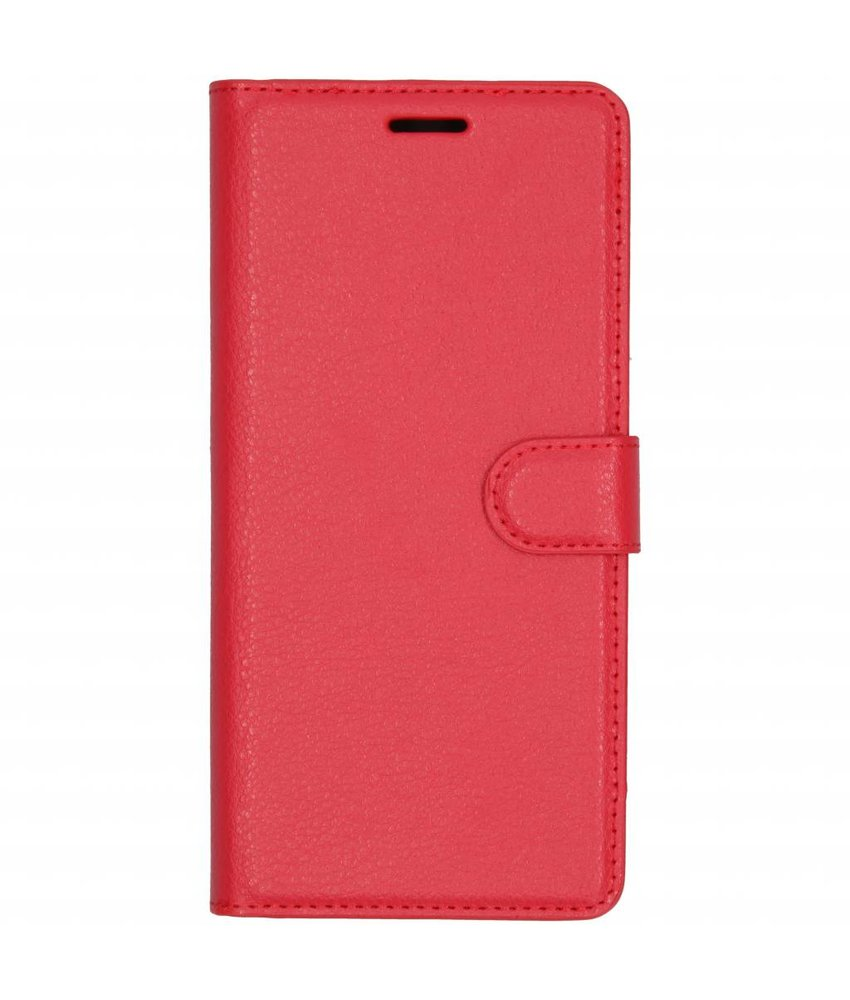 Rood litchi booktype hoes Samsung Galaxy J4 Plus