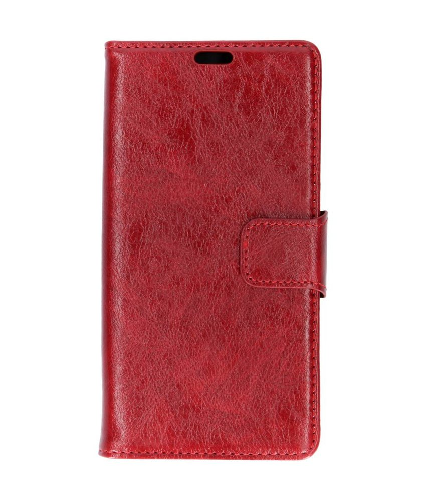 Rood split leather booktype Samsung Galaxy J4 Plus