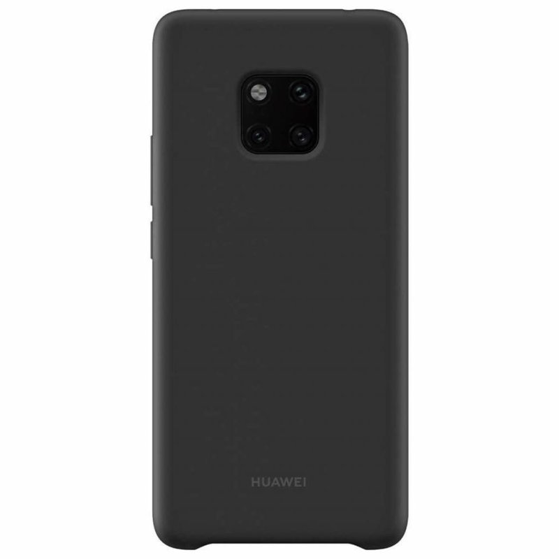 Huawei Zwart Silicone Case Mate 20 Pro
