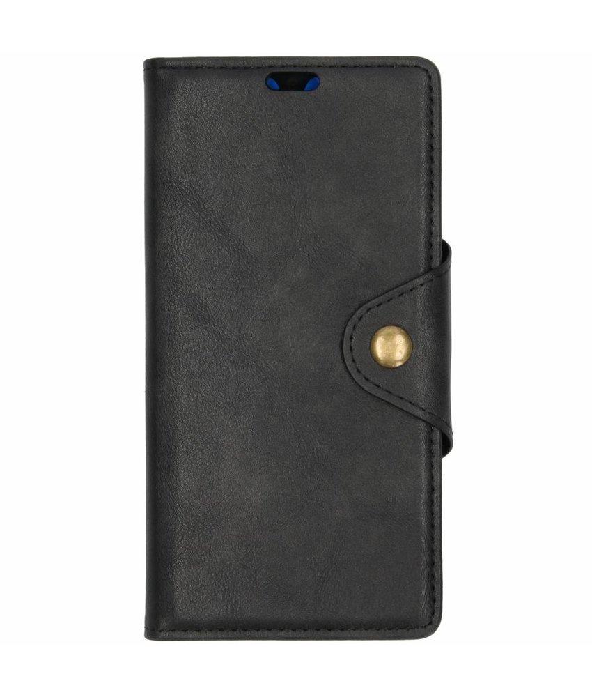 Zwart button booktype hoes Huawei Mate 20
