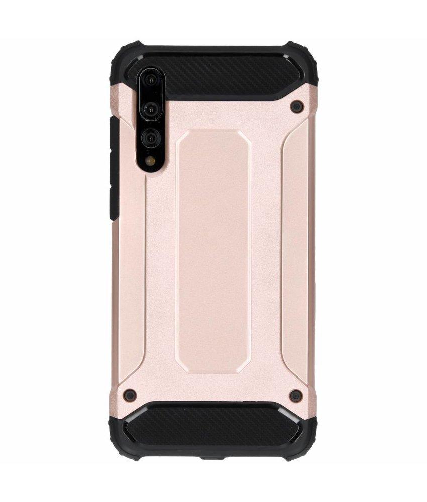Rosé Goud Rugged Xtreme Case Huawei P20 Pro