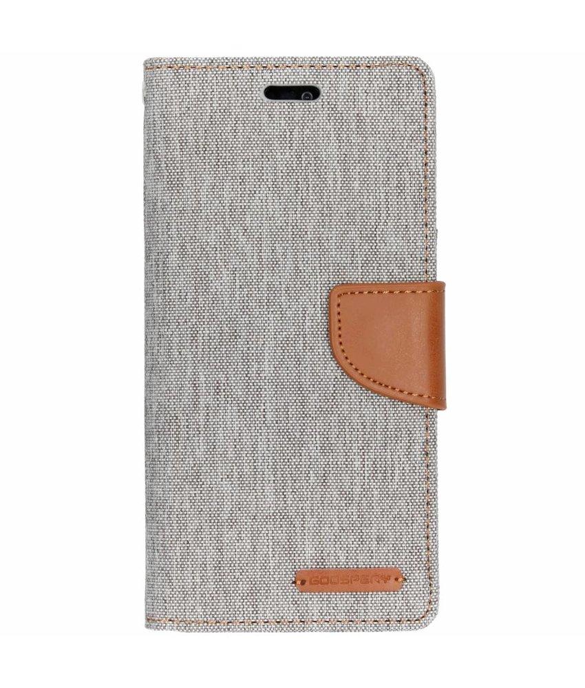 Mercury Goospery Grijs Canvas Diary Case Huawei P20 Lite