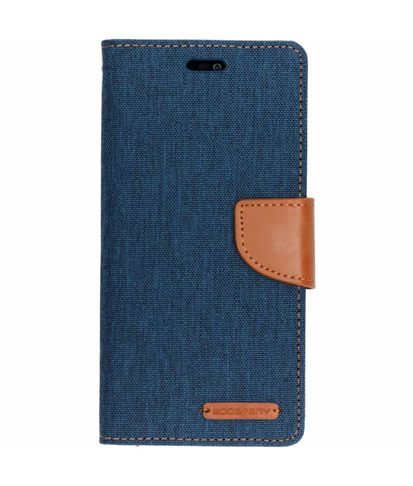 Mercury Goospery Blauw Canvas Diary Case Huawei P20 Lite
