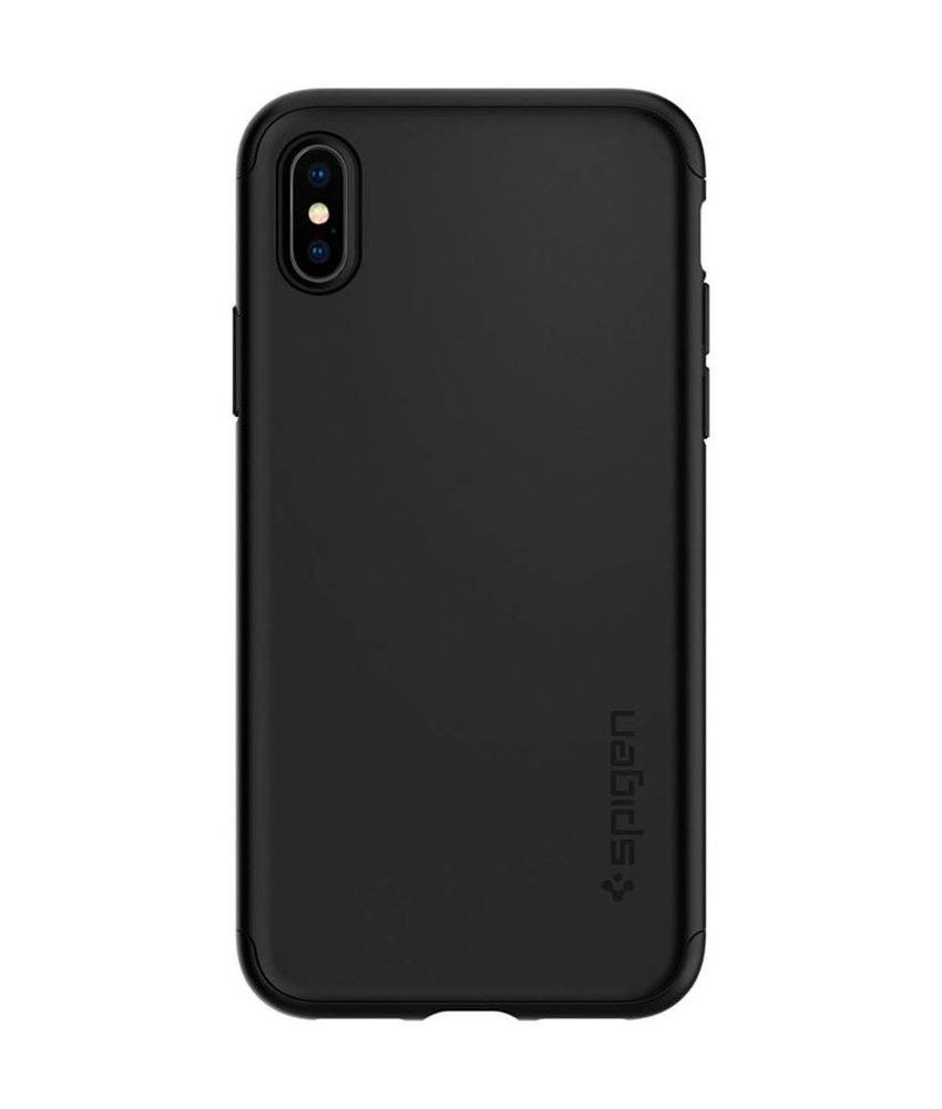 Spigen Zwart Thin Fit 360™ Hardcase iPhone Xs / X
