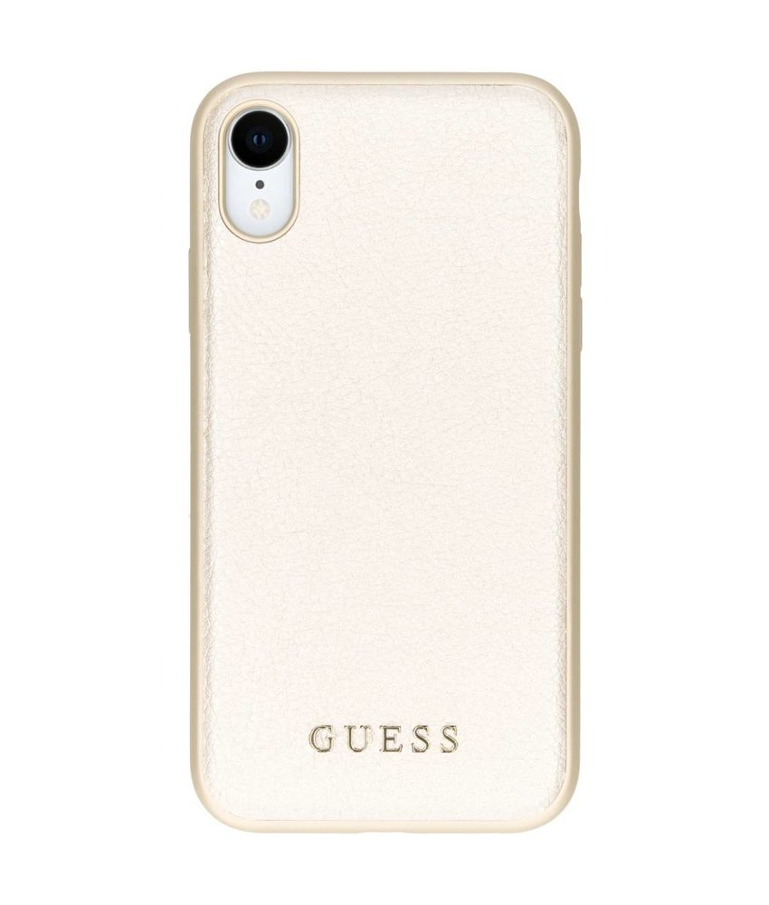 Guess Goud iriDescent Leather Hardcase iPhone Xr