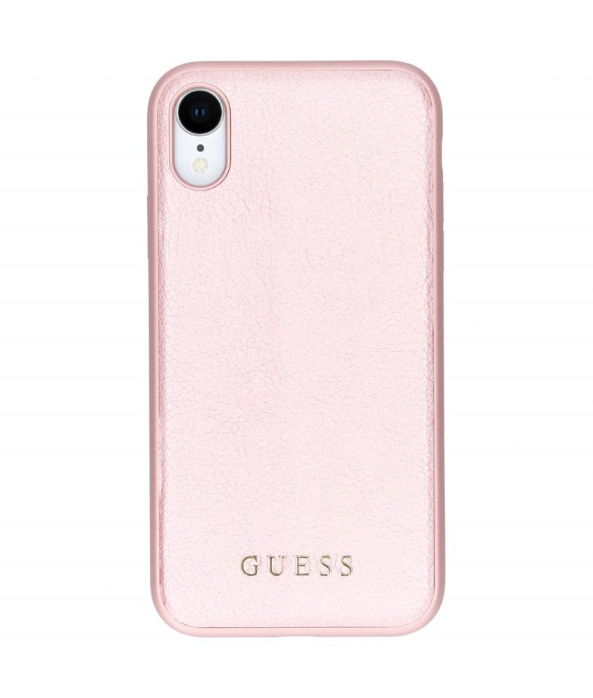 Guess Roze iriDescent Leather Hardcase iPhone Xr