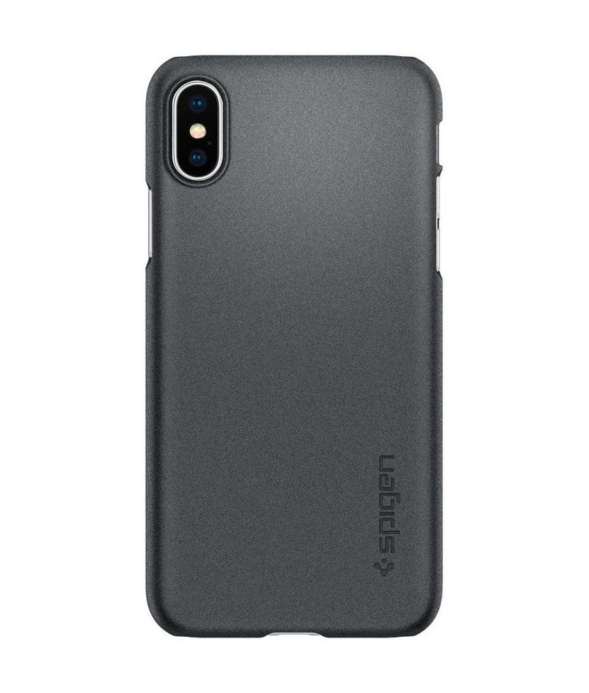 Spigen Zwart Thin Fit™ Hardcase iPhone Xs / X