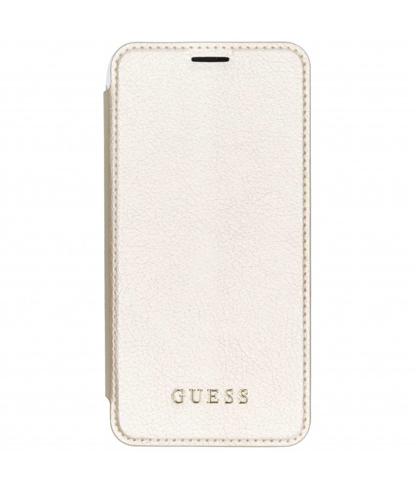 Guess Goud Transparant Back Foliocase iPhone Xs Max