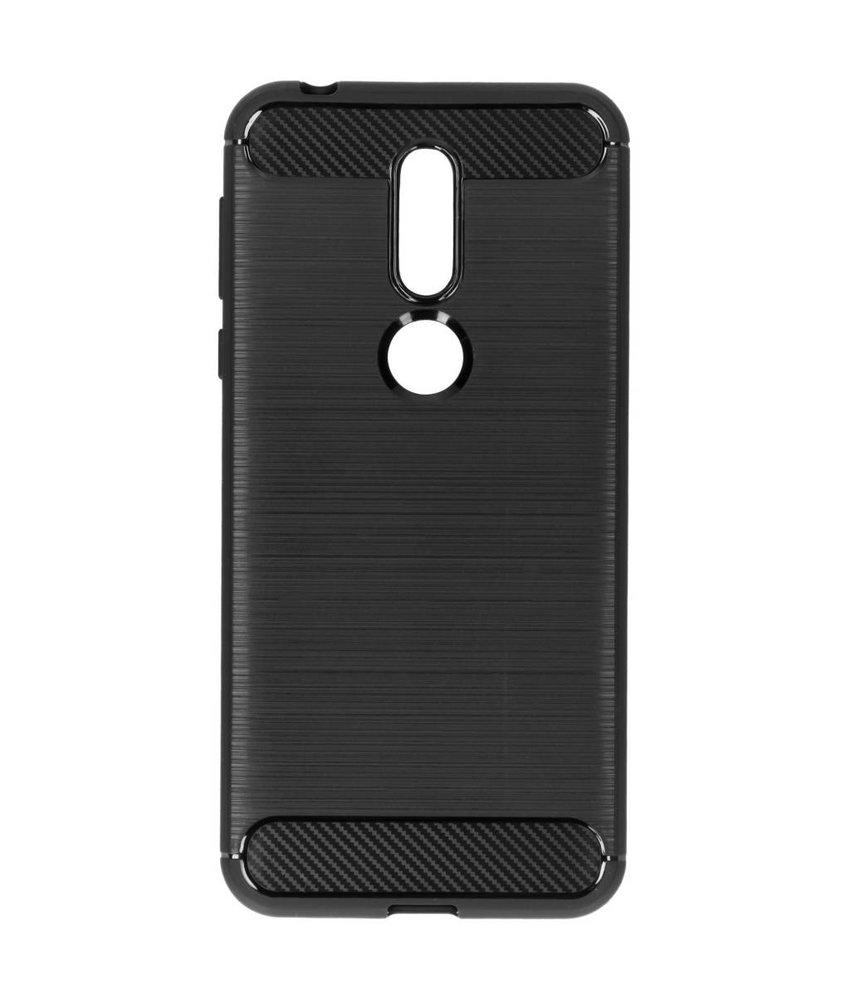 Zwart brushed TPU case Nokia 7.1
