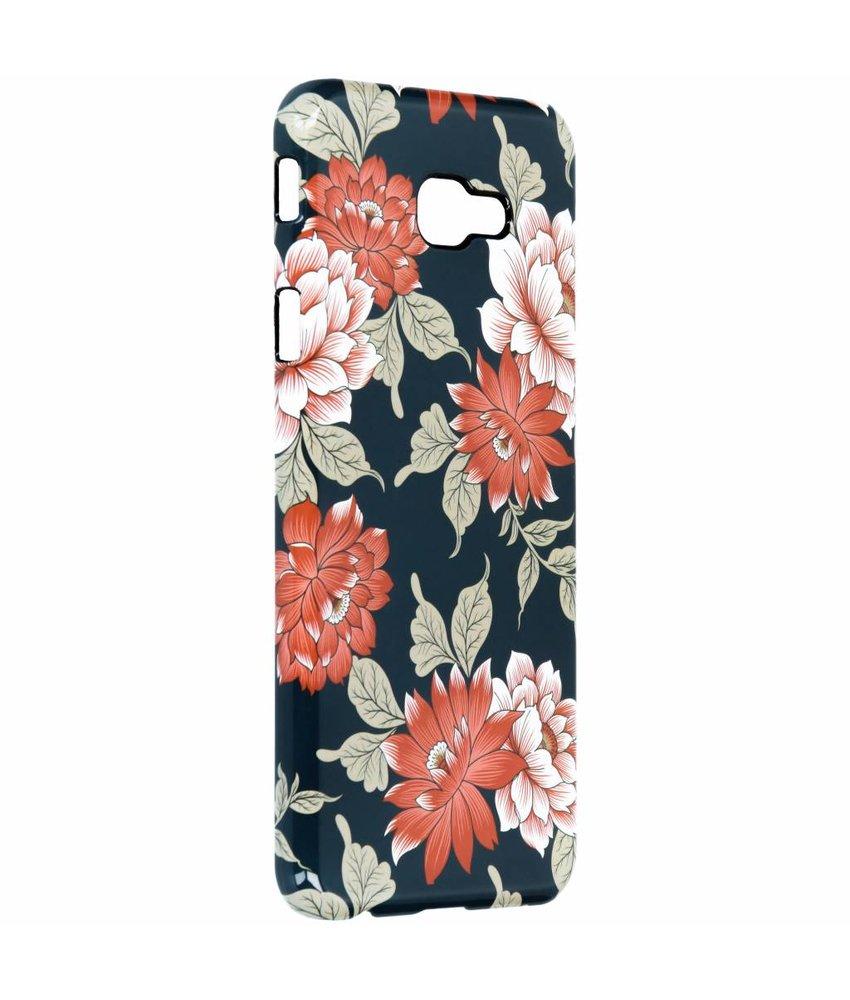Selencia Blue Flowers Passion Hard Case Samsung Galaxy J4 Plus