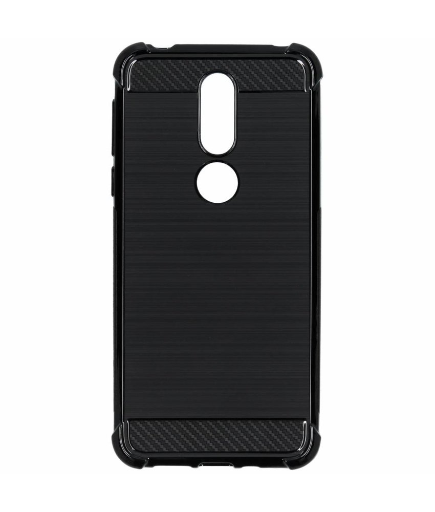 Zwart xtreme siliconen hoesje Nokia 7.1