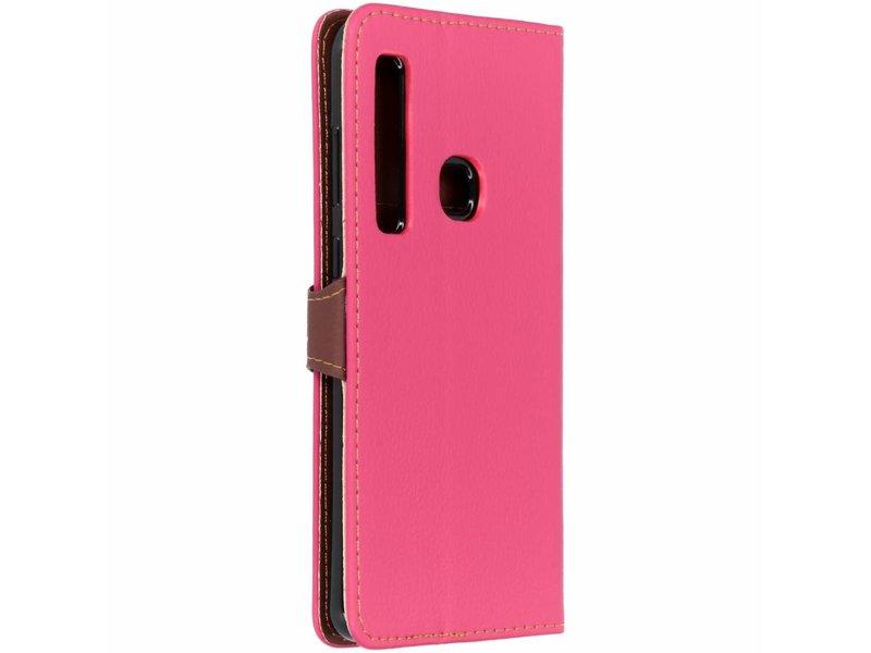 Samsung Galaxy A9 (2018) hoesje - Fuchsia blad design TPU