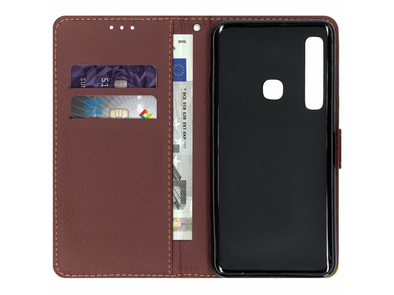 Samsung Galaxy A9 (2018) hoesje - Blad Design Booktype voor