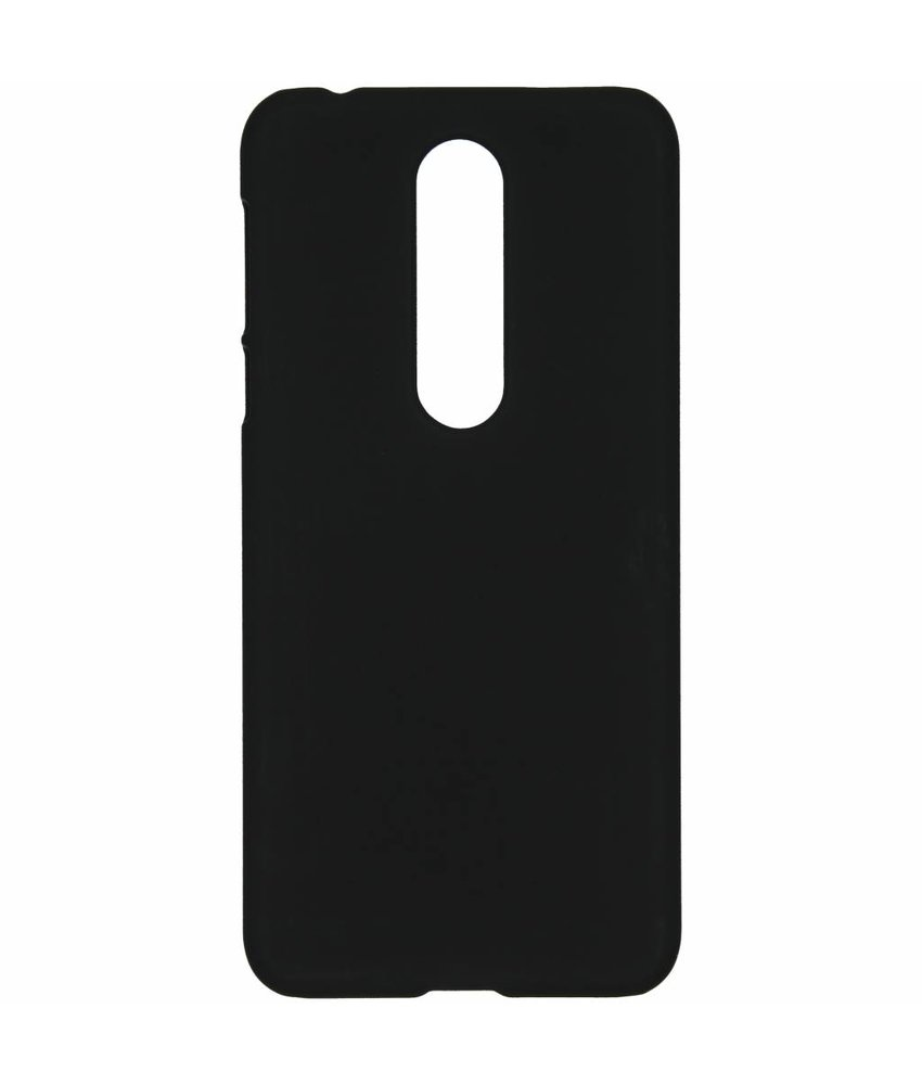 Zwart effen hardcase hoesje Nokia 7.1