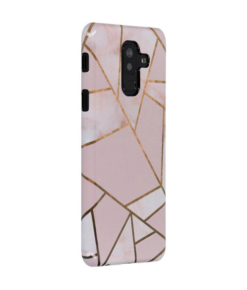 Selencia Pink Graphic Passion Hard Case Galaxy A6 Plus (2018)