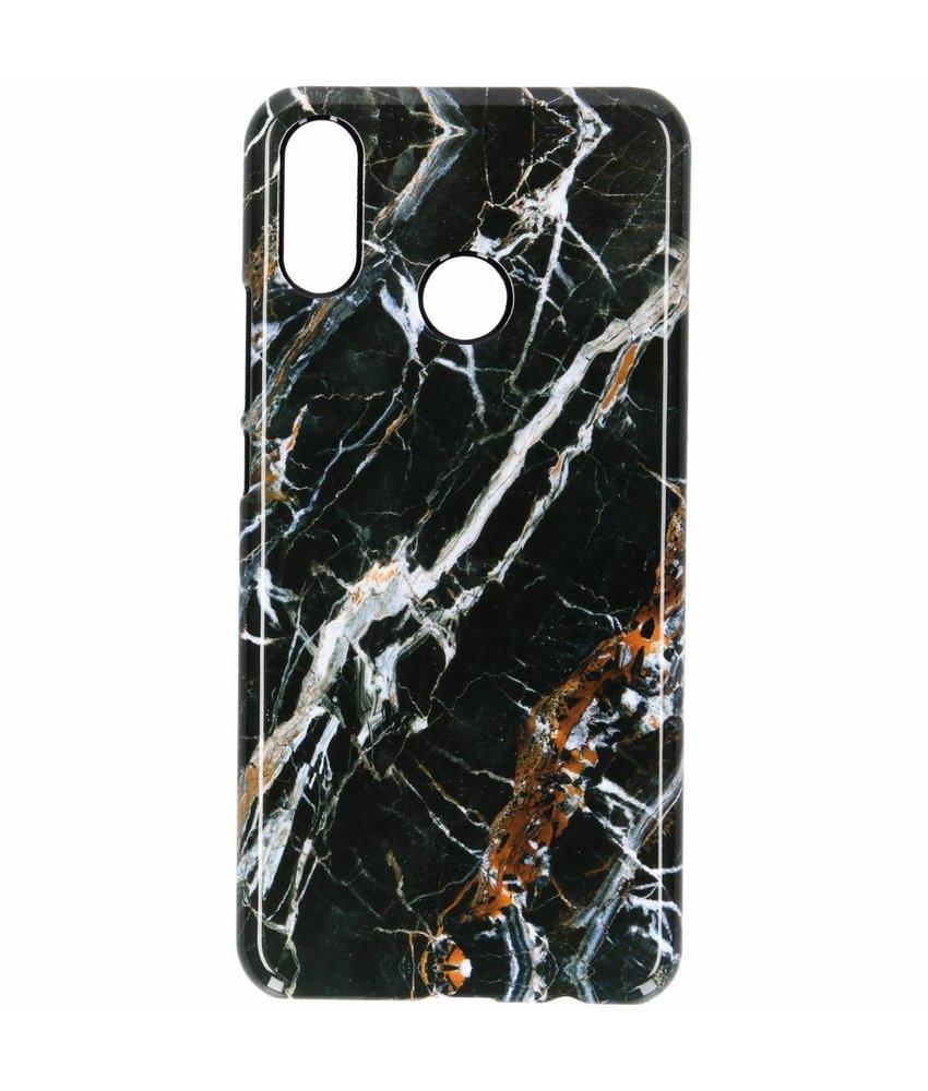 Selencia Black Marble Passion Hard Case Huawei P Smart Plus