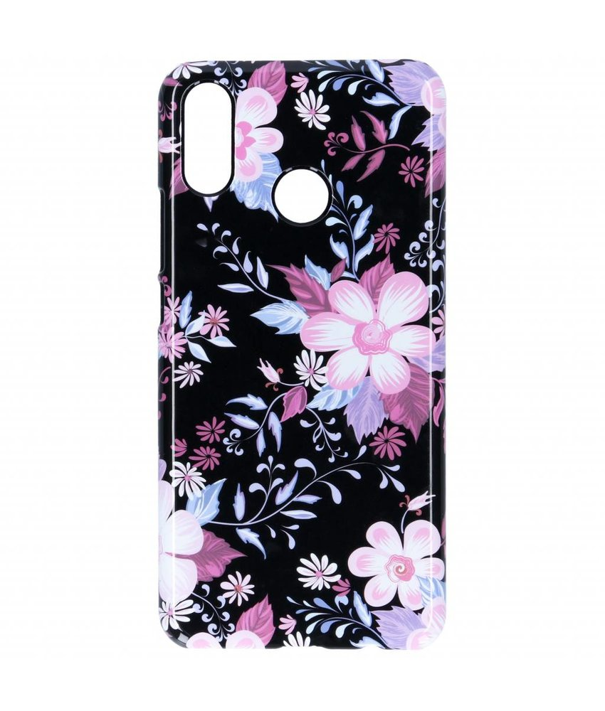 Selencia Black Flowers Passion Hard Case Huawei P Smart Plus