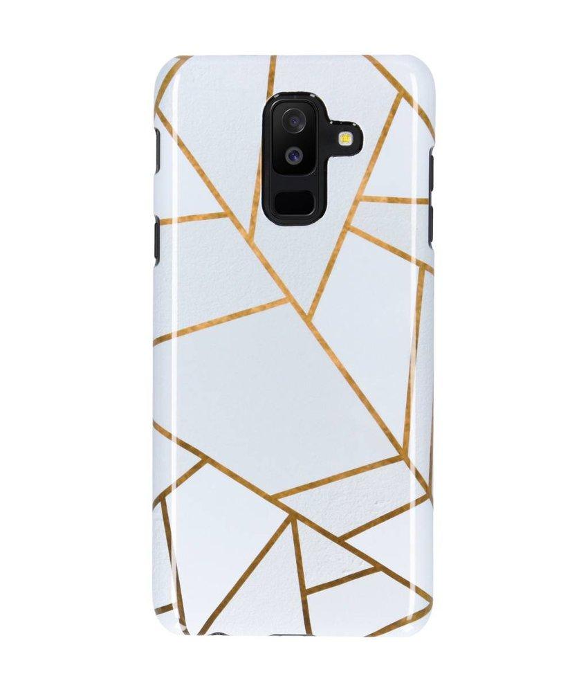 Selencia White Graphic Passion Hard Case Galaxy A6 Plus (2018)