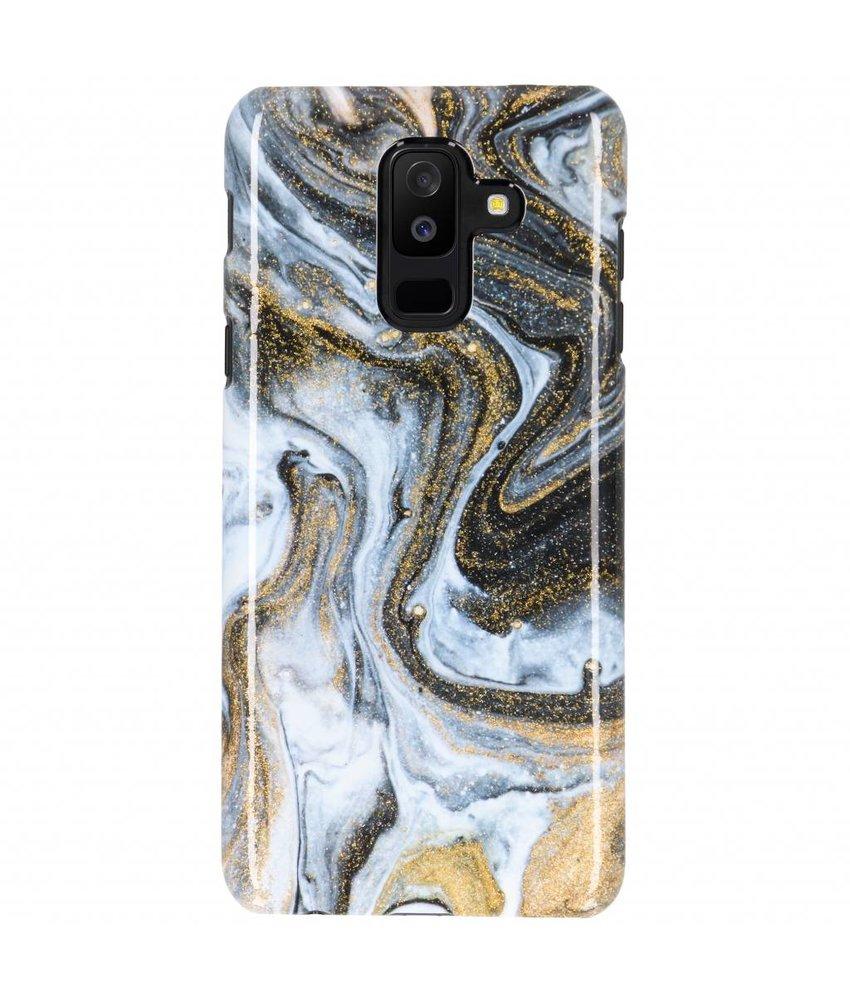 Selencia Black Lava Passion Hard Case Galaxy A6 Plus (2018)