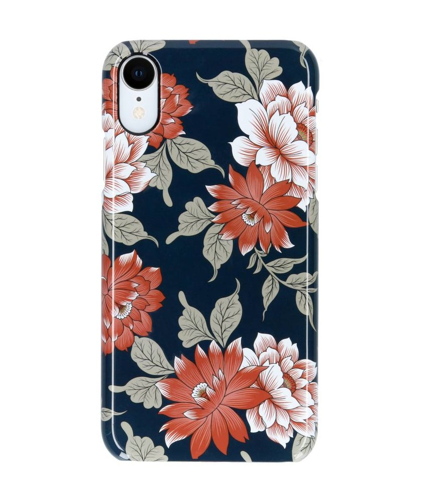 Selencia Blue Flowers Passion Hard Case iPhone Xr