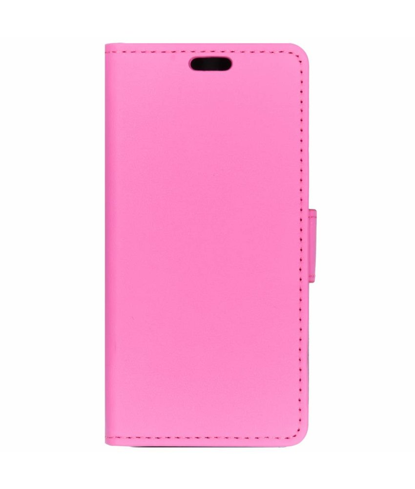 Roze luxe booktype hoes Alcatel 1