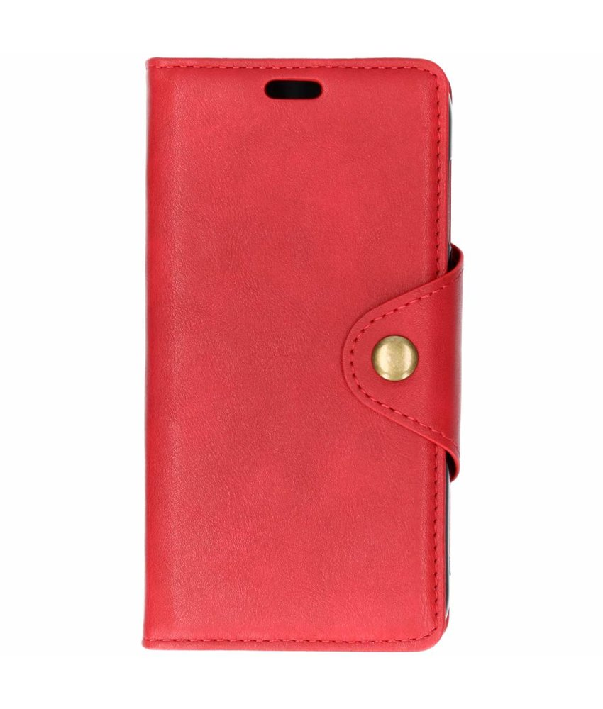 Rood button booktype hoes Motorola Moto E5 Play