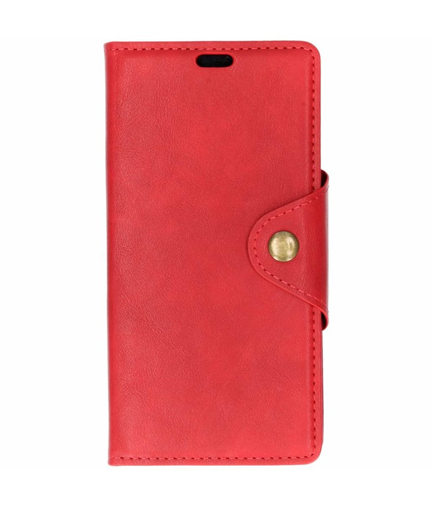 Rood button booktype hoes Huawei Mate 20 Pro