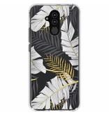 Huawei Mate 20 Lite hoesje - Botanic design siliconen hoesje