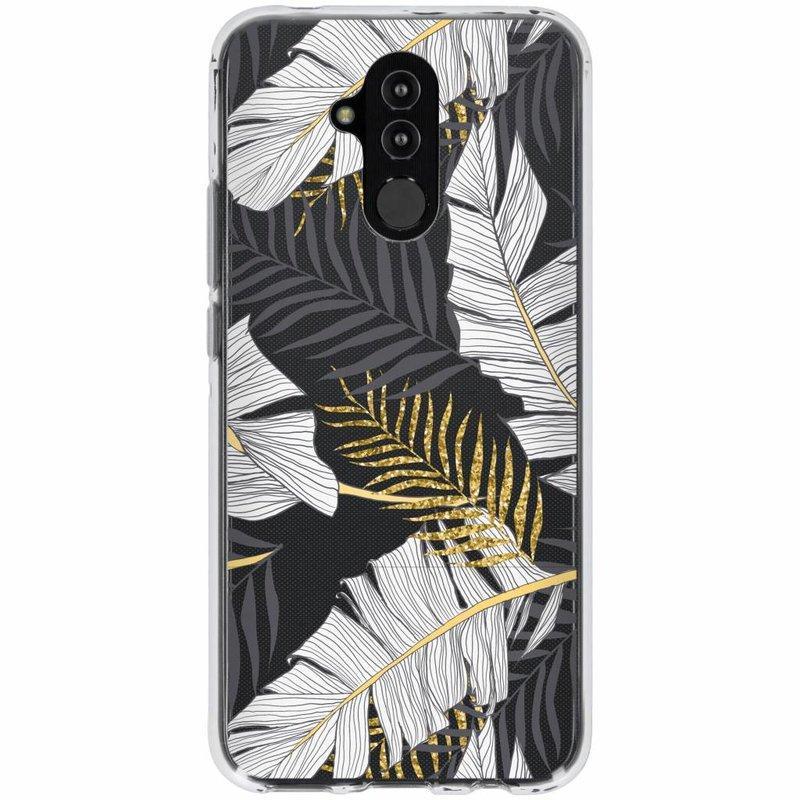 Botanic design siliconen hoesje Huawei Mate 20 Lite