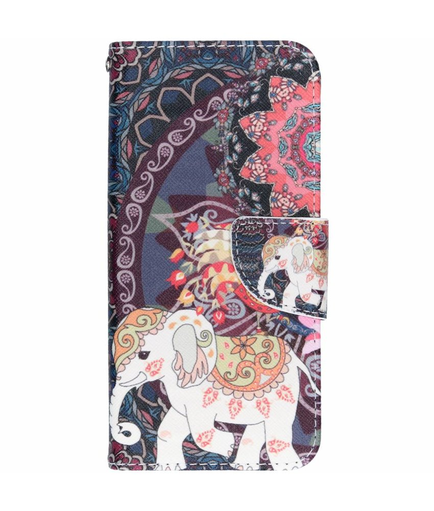 Design Softcase Booktype Samsung Galaxy A6 (2018)
