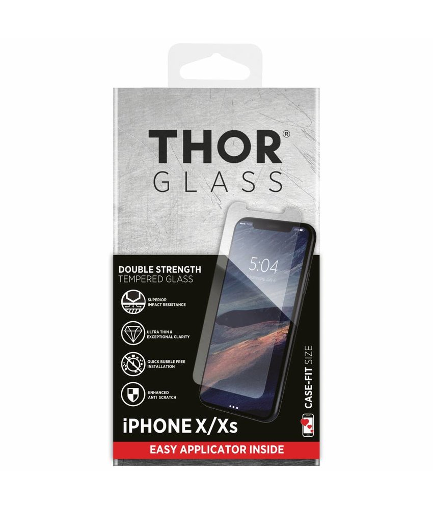 THOR Case-Fit Screenprotector + Easy Apply Frame iPhone Xs / X