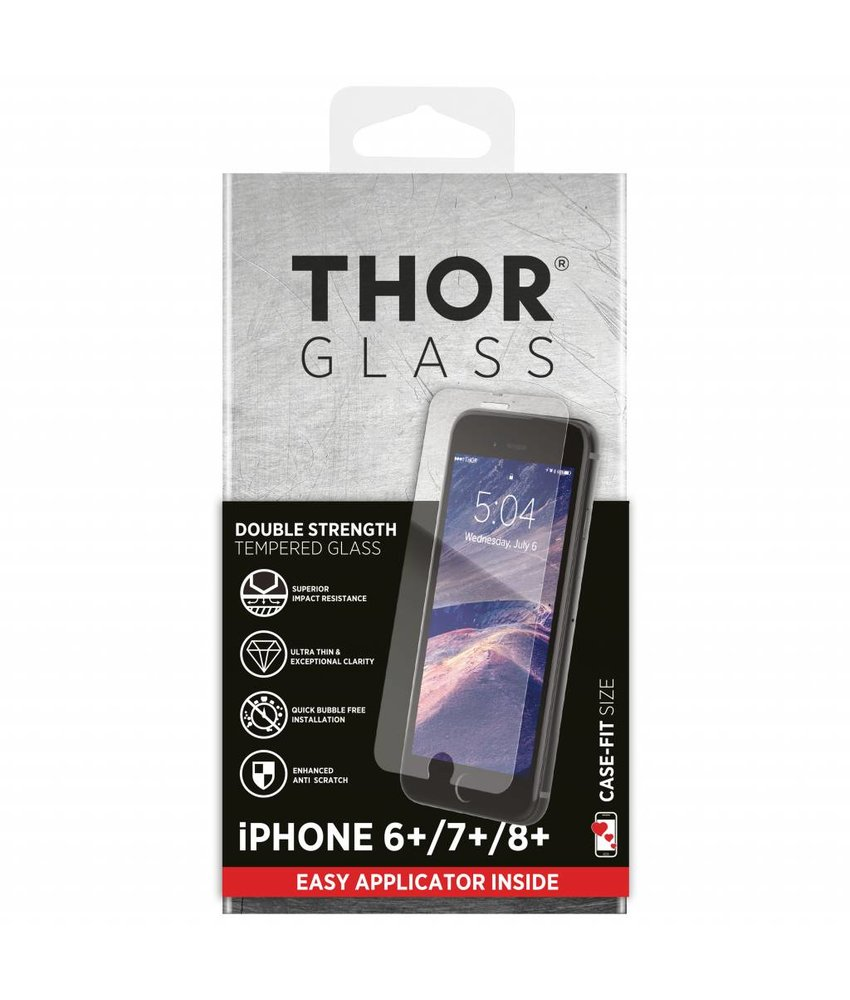 THOR Case-Fit Screenprotector + Apply Frame iPhone 8 Plus/ 7 Plus