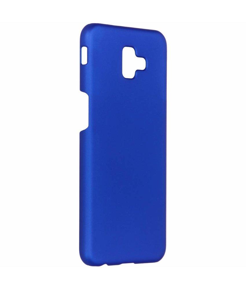 Blauw effen hardcase hoesje Samsung Galaxy J6 Plus