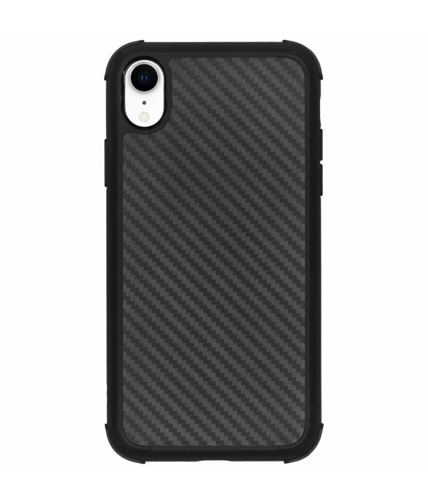 Zwart xtreme carbon siliconen hoesje iPhone Xr