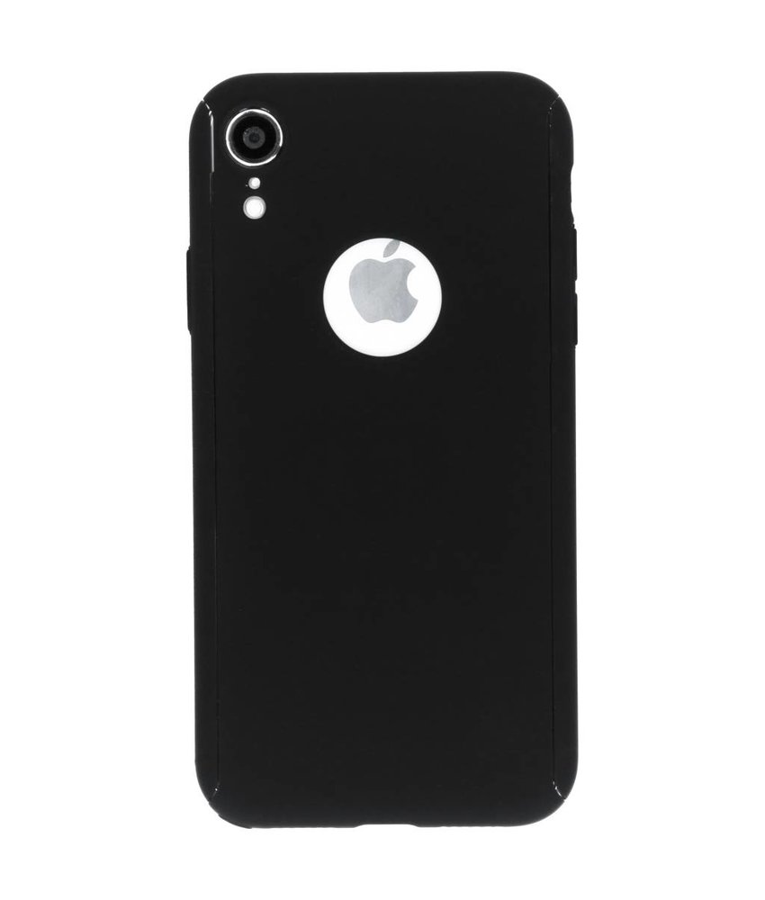 Zwart 360° effen protect case iPhone Xr