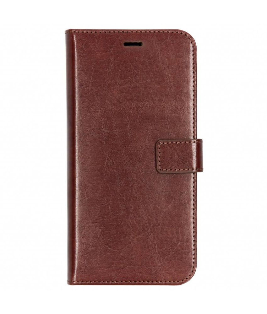Valenta Bruin Booklet Leather Samsung Galaxy A6 Plus (2018)