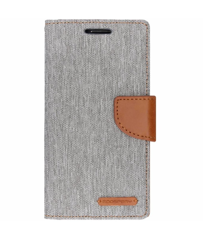 Mercury Goospery Grijs Canvas Diary Case Samsung Galaxy Grand Prime