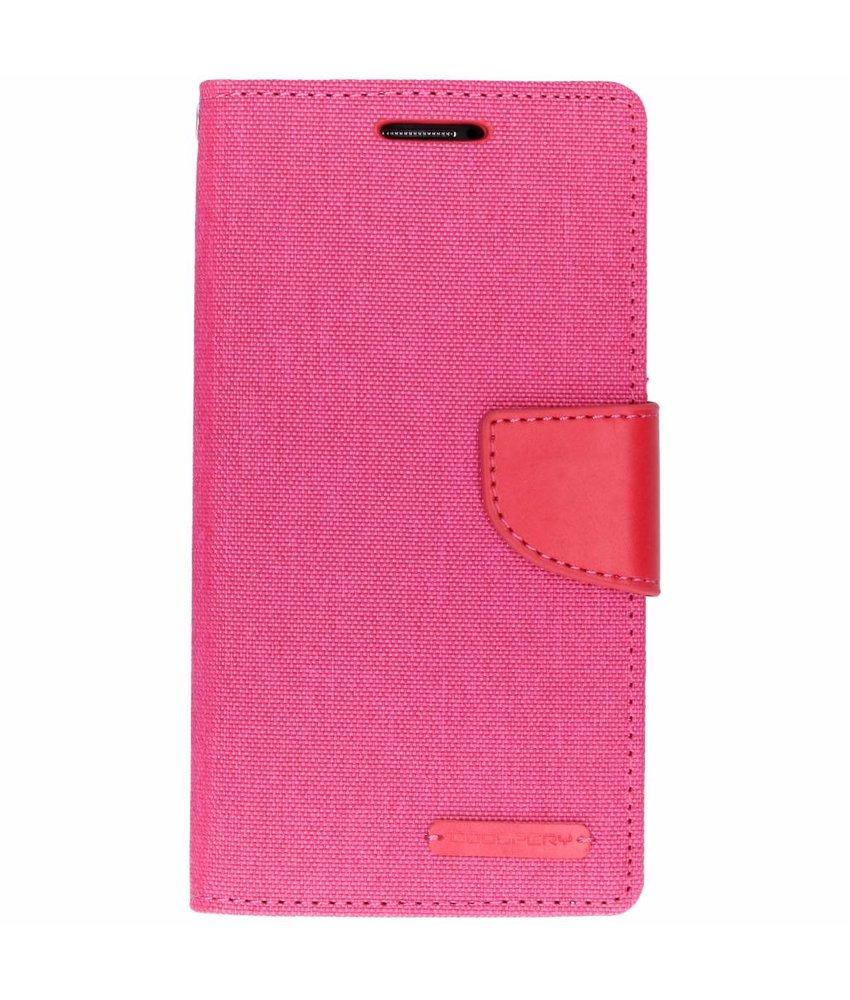 Mercury Goospery Roze Canvas Diary Case Samsung Galaxy Grand Prime