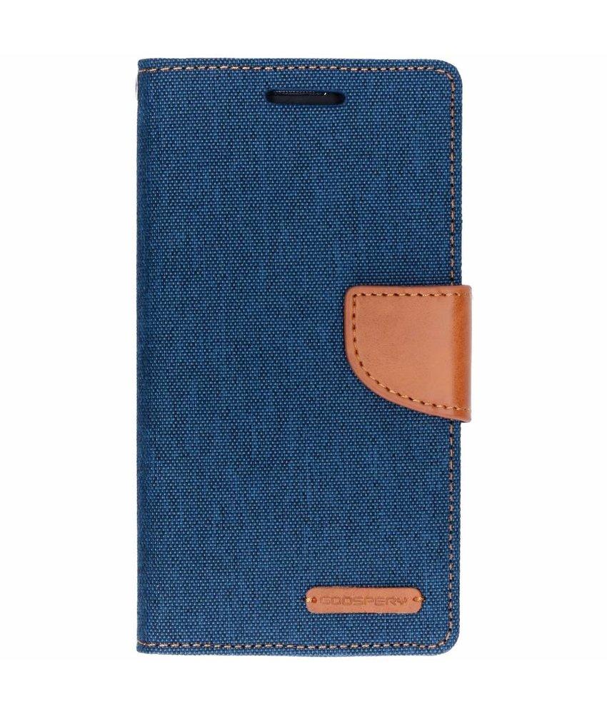 Mercury Goospery Blauw Canvas Diary Case Samsung Galaxy Grand Prime