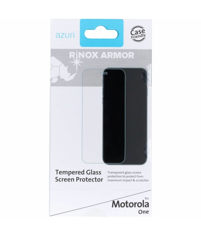 Azuri Tempered Glass Screenprotector Motorola One