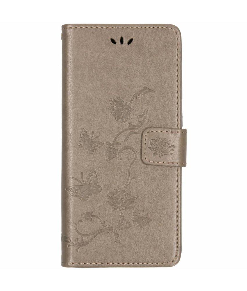 Vlinder bloemen booktype hoes Samsung Galaxy A9 (2018)