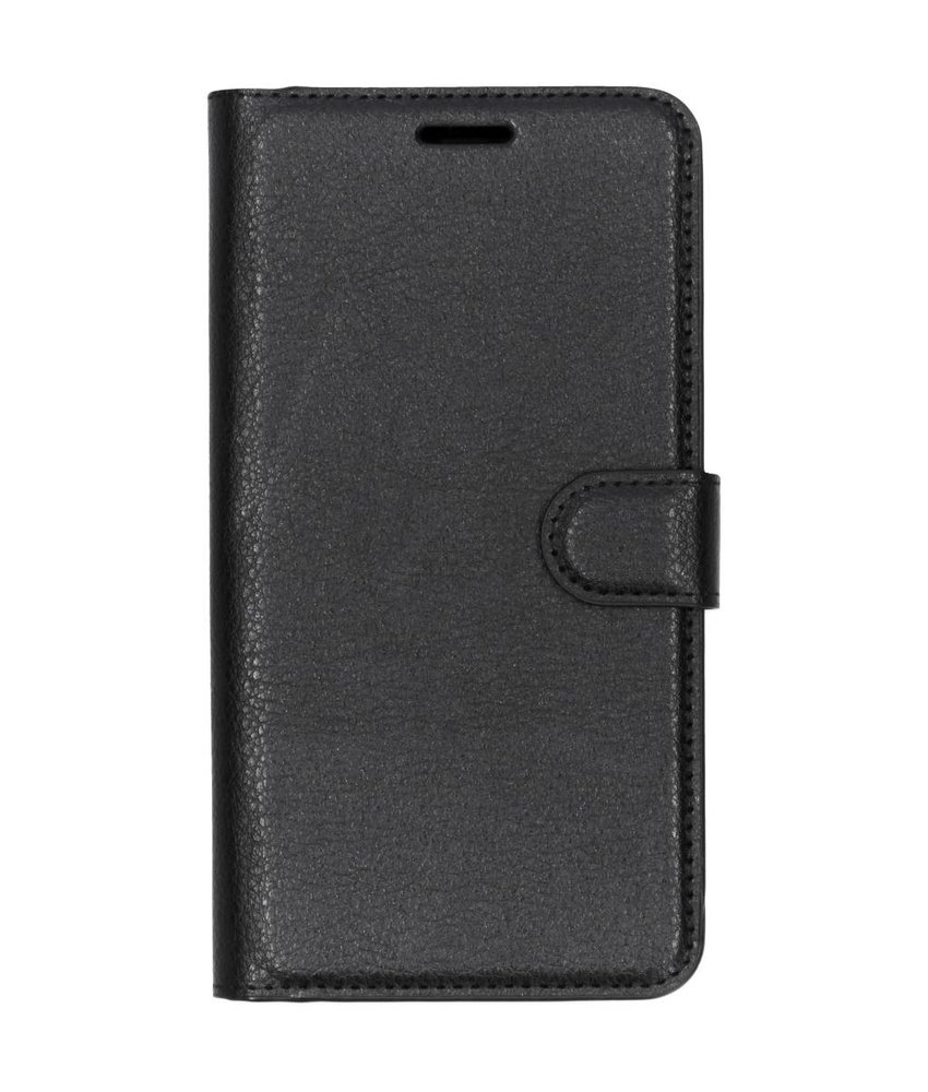 Zwart litchi booktype hoes OnePlus 3 / 3T