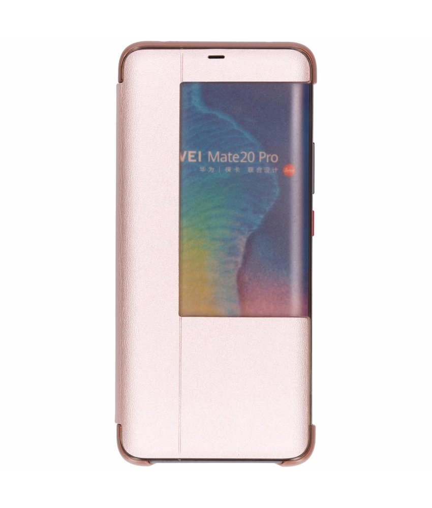 Rosé Goud view cover booktype hoes Huawei Mate 20 Pro
