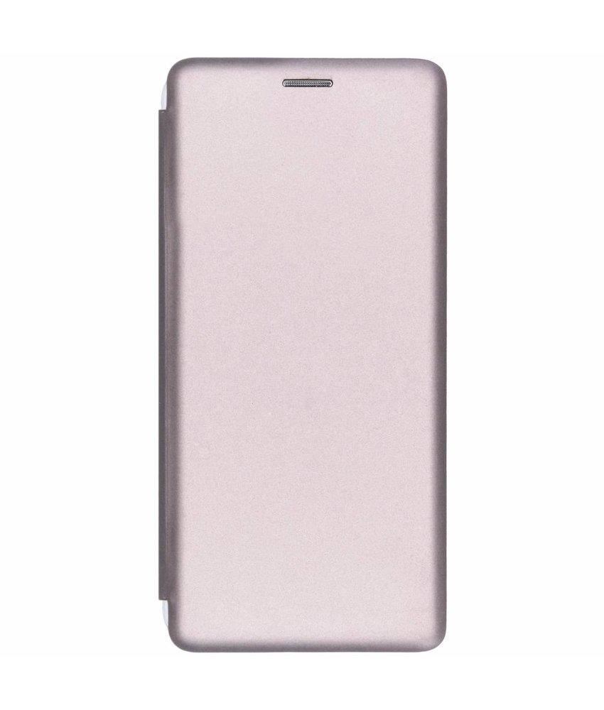 Zilver slim folio color case Samsung Galaxy A9 (2018)