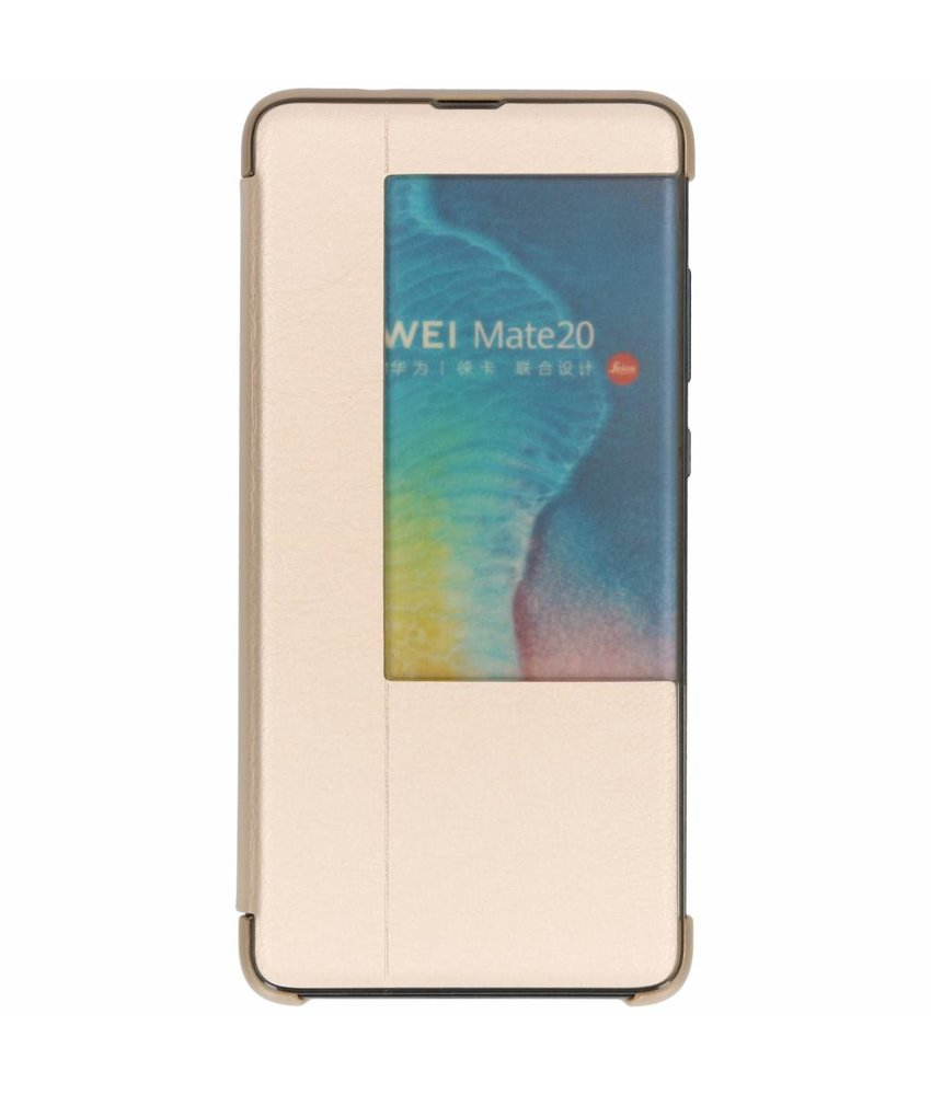 Goud view cover booktype hoes Huawei Mate 20