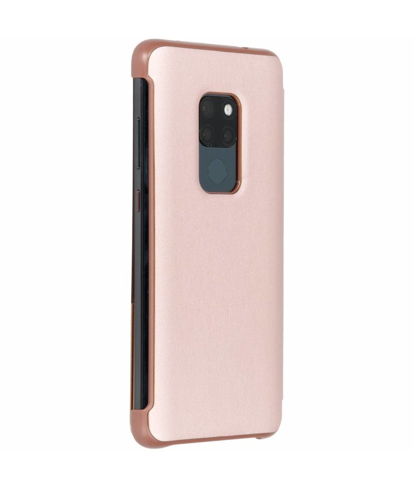 Rosé Goud view cover booktype hoes Huawei Mate 20